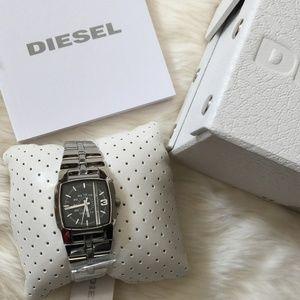 Diesel Women Silver Black Dial Watch DZ5229